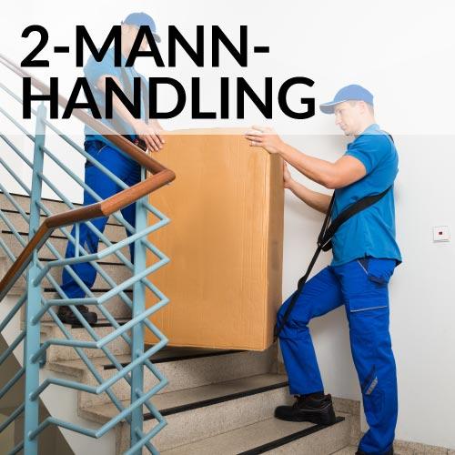 2-Mann Handling: Tragen und Aufbauen