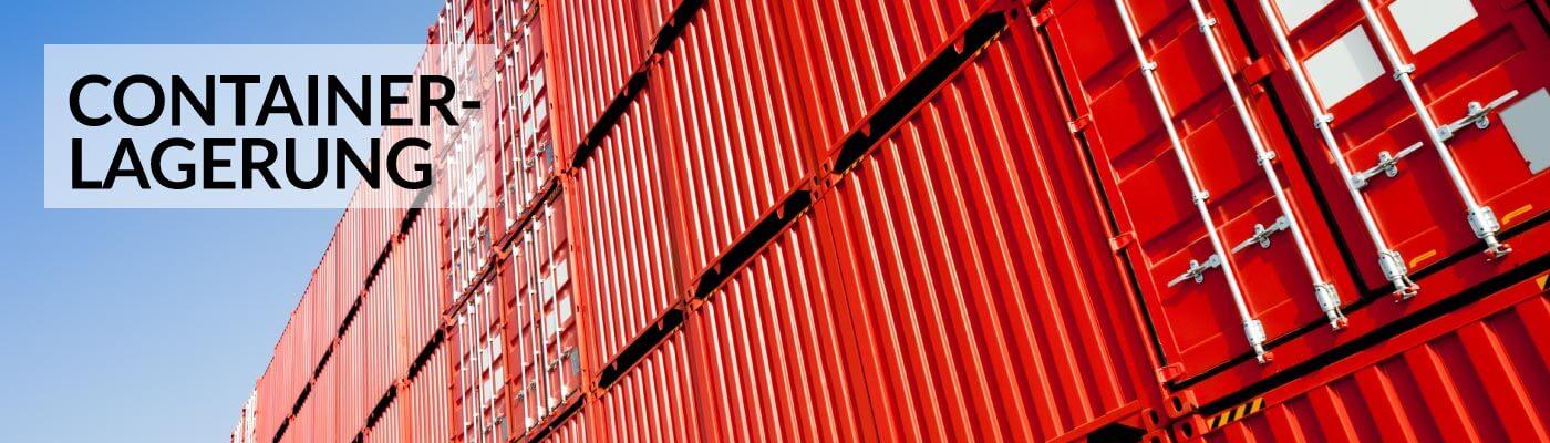 Containerlagerung und Überseeumzüge